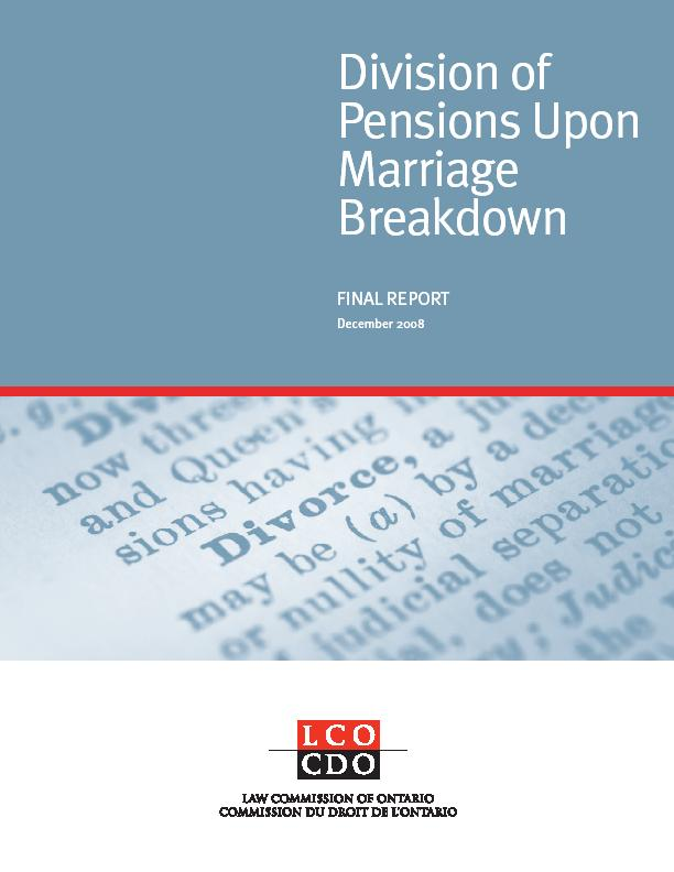 Pensions Final Report Cover